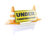 Under construction concept. 3d illustration