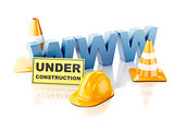 Website under construction concept. 3d illustration