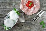 Mozzarella, Mortadella And Cherry Tomatoes
