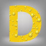 beer letter D