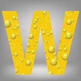 beer letter W