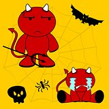 demon halloween cartoon kid set9