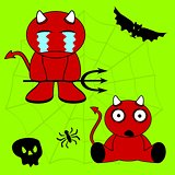 demon halloween cartoon kid set8