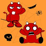 demon halloween cartoon kid set7