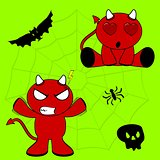 demon halloween cartoon kid set6