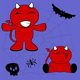 demon halloween cartoon kid set4