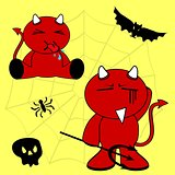 demon halloween cartoon kid set3