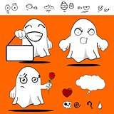 ghost funny cartoon set 10
