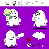 ghost funny cartoon set 9