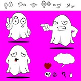 ghost funny cartoon set 4