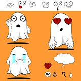 ghost funny cartoon set 3