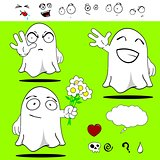 ghost funny cartoon set 2