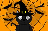 halloween invitation black cat witch 9