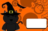 halloween invitation black cat witch 4