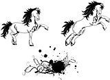 horse sticker tattoo set 2