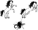 horse sticker tattoo set 1
