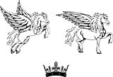 pegasus horse sticker tattoo set