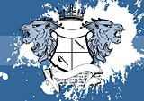 heraldic lion head coat of arms background