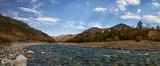 autumn landscape mountain river