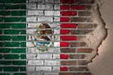 Dark brick wall with plaster - Mexico