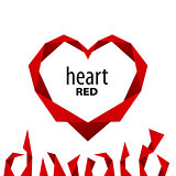 logo heart from red ribbon