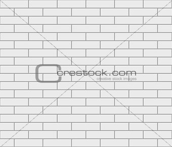 Abstract seamless white flat brick wall