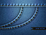 Denim side pocket background