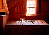 Vintage barn work place & tools