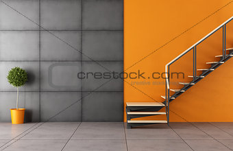 Modern room with staircase