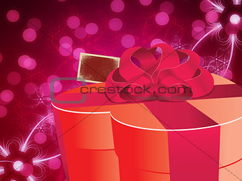 Abstract background with gift box