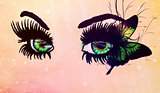 Fantasy green eyes
