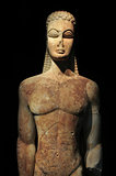 ancient greek kouros statue