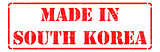 Made in  South Korea - Red Rubber Stamp.