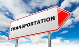 Transportation on Red Road Sign.