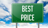 Best Price on Green Highway Signpost.