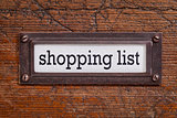 shopping list - file cabinet label