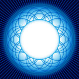 Blue wave circle