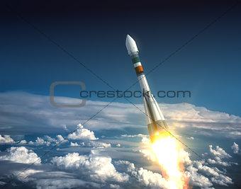 Carrier Rocket Take Off