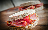 Sandwiches with italian salami