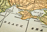 Crimea on a vintage map