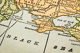 Crimea on a vintage map