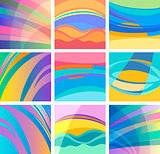 background abstract pastel design set