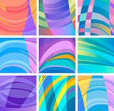 background modern abstract design set
