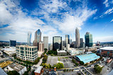 Aerial view of Charlotte North Carolina skyline
