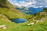 Estany Primer. Tristaina Lakes (Estanis de Tristaina). Andorra