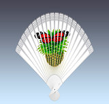 Colorful hand fan