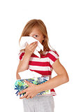 Young girl with a cold.