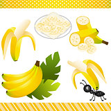 Banana Digital Clipart