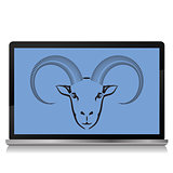 ram on the laptop screen