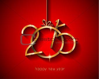 2015 flat style  new year modern background